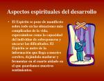 aspectos espirituales del desarrollo