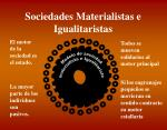 sociedades materialistas e igualitaristas