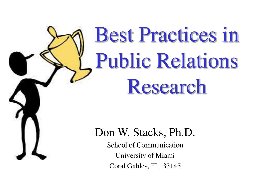 best practices in public relations research l.
