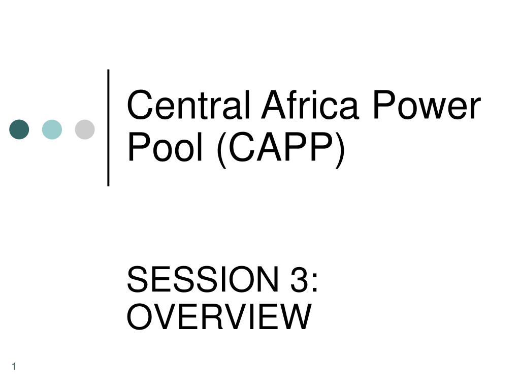 central africa power pool capp l.