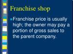 franchise shop21