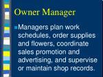 owner manager