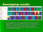 genotyping results