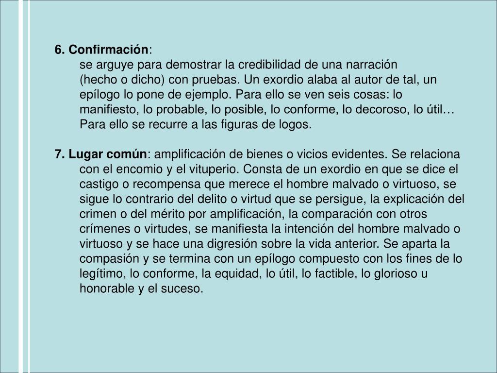 6. Confirmación