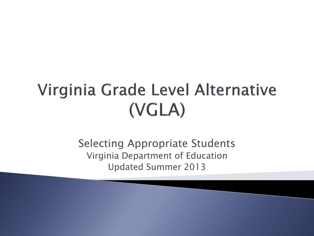 virginia grade level alternative vgla l.