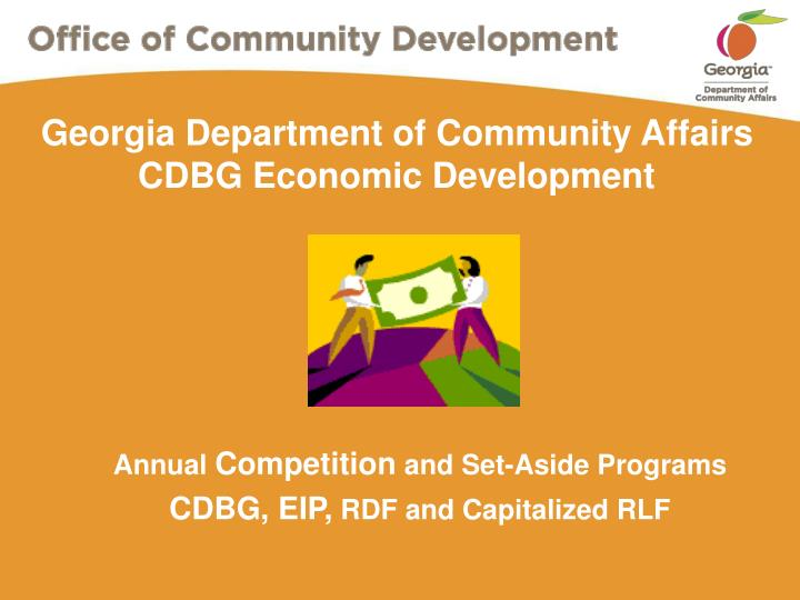 georgia department of community affairs cdbg economic development n.