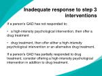 inadequate response to step 3 interventions