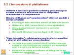 3 2 l innovazione di piattaforma