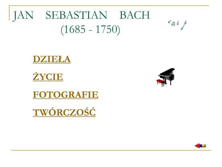 Jan sebastian bach 1685 1750