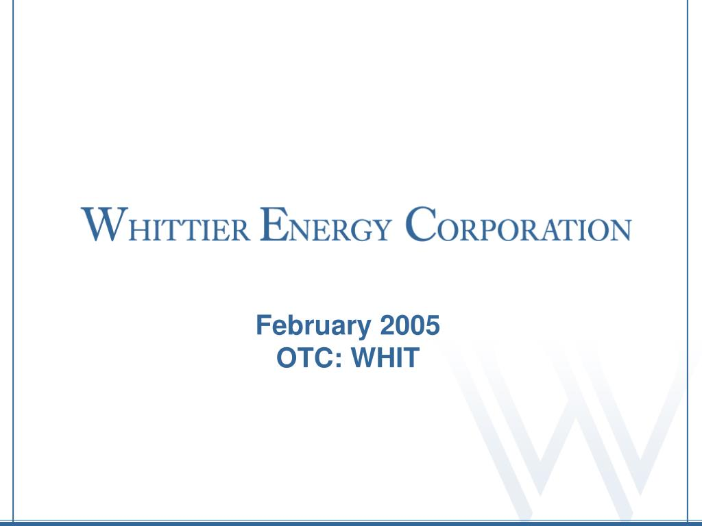 february 2005 otc whit l.