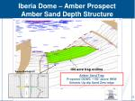 iberia dome amber prospect amber sand depth structure