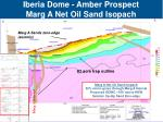 iberia dome amber prospect marg a net oil sand isopach