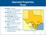 operated properties texas
