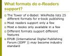 what formats do e readers support