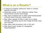 what is an e reader