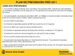 plan de prevenci n fr o 2011