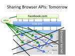 sharing browser apis tomorrow