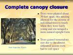 complete canopy closure17
