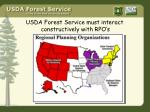 usda forest service must interact constructively with rpo s