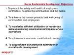 borax sustainable development objectives