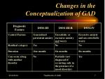 changes in the conceptualization of gad