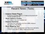 recent news tools