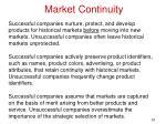 market continuity