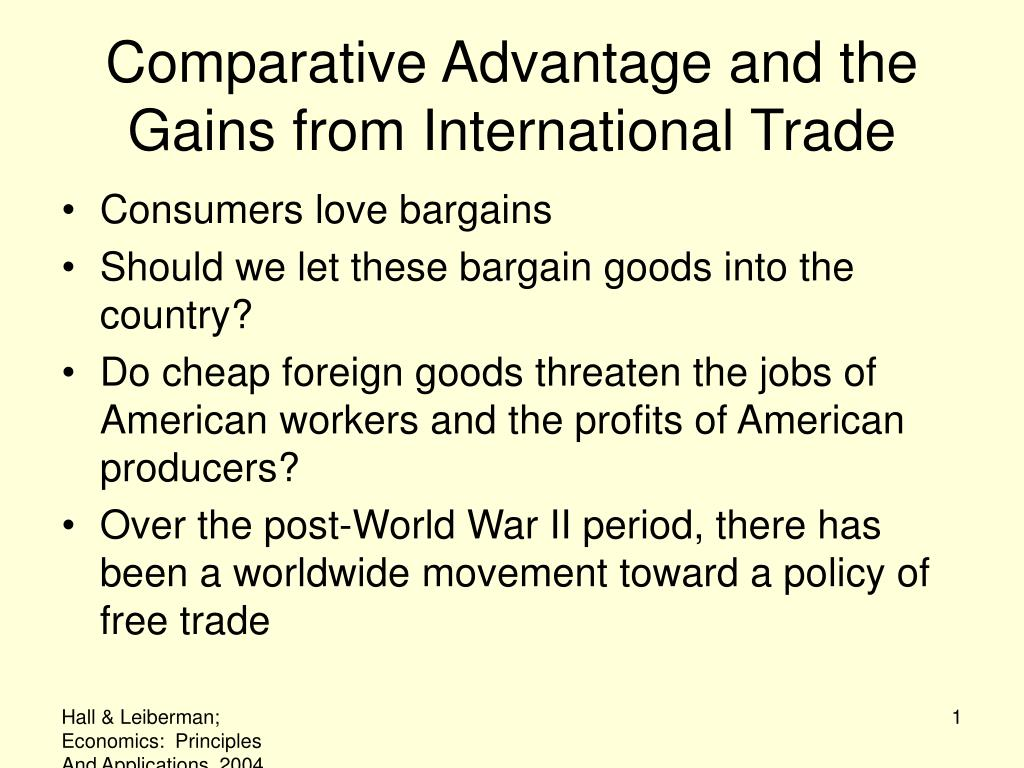 comparative advantage and the gains from international trade l.
