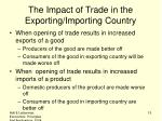 the impact of trade in the exporting importing country