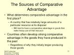 the sources of comparative advantage