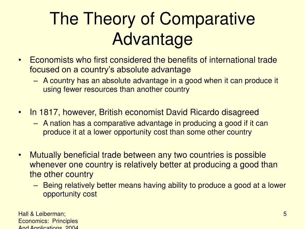 Explain The Concept Of Comparative Advantage And The Principle