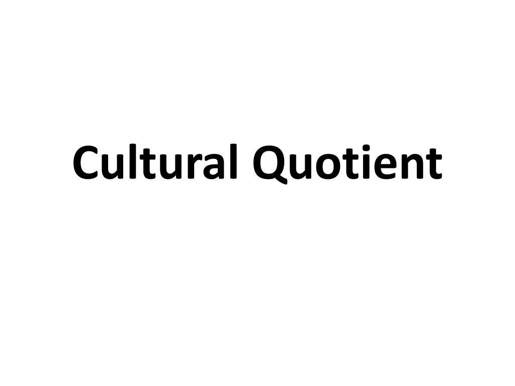 cultural quotient l.