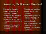 answering machines and voice mail54