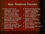 basic telephone manners