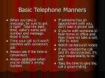 basic telephone manners51