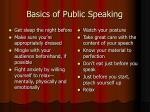 basics of public speaking