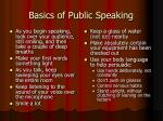 basics of public speaking35