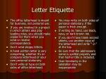 letter etiquette