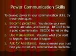 power communication skills