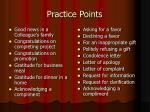practice points