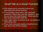 small talk at a social function