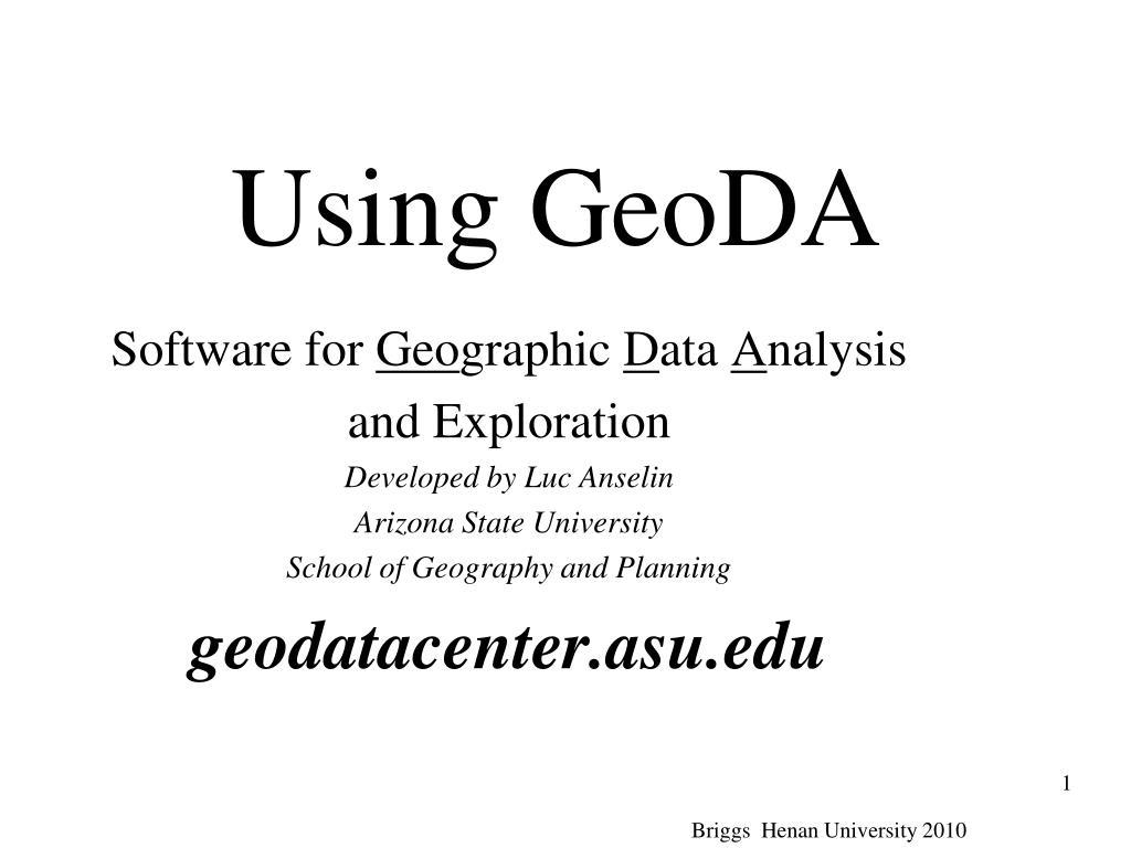 using geoda l.