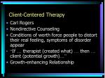 client centered therapy