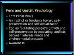 perls and gestalt psychology