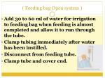 feeding bag open system56