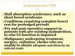 indications for tpn