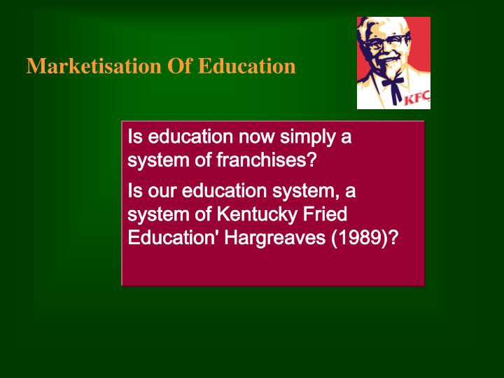 marketisation of education n.