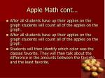 apple math cont