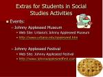extras for students in social studies activities