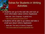 extras for students in writing activities